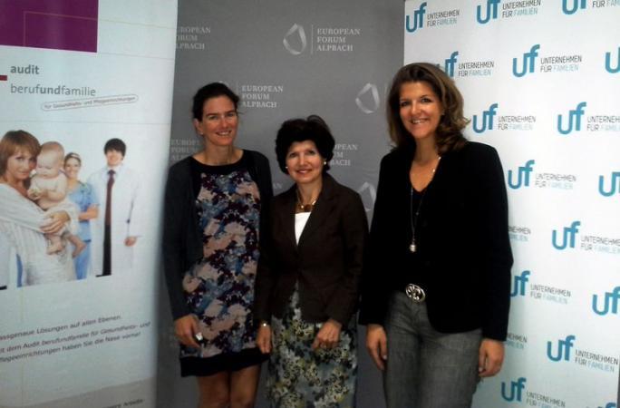 Im Bild Mag. Alexandra Lindtner, Präs. Ursula Frohner, Mag. Elisabeth Wenzl (v.l.n.r.)