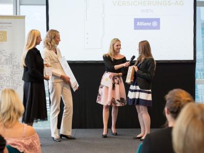 1. Platz in der Kategorie Private Wirtschaftsunternehmen ab 101 Mitarbeiter/innen: Allianz Elementar Versicherungs-AG