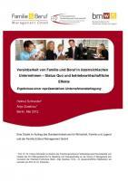 Studie zu Vereinbarkeit von Familie und Beruf in oesterreichischen Unternehmen