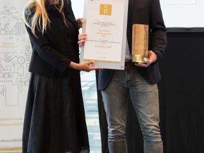 1. Platz in der Kategorie Private Wirtschaftsunternehmen bis 20 Mitarbeiter/innen: ikp Vorarlberg