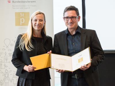 2. Platz in der Kategorie Private Wirtschaftsunternehmen mit 21-100 Mitarbeiter/innen: Müller Bau GmbH & Co KG
