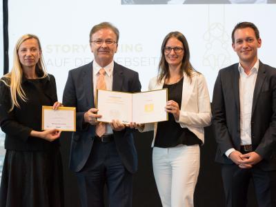 """3. Platz Sonderpreis """"Bestes Familienfreundliches Employer Branding"""": BMD Systemhaus GesmbH"""