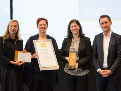 """1. Platz Sonderpreis """"Bestes Familienfreundliches Employer Branding"""": Klinikum Wels-Grieskirchen GmbH"""