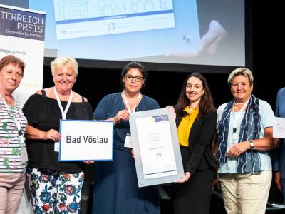 Der zweite Platz ging an die niederösterreichische Stadtgemeinde Bad Vöslau für ihren Jugendflohmarkt