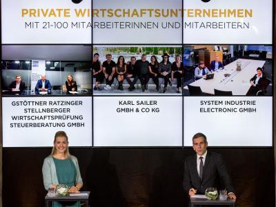 """Die Nominierten in der Kategorie """"Private Wirtschaftsunternehmen mit 21-100 Mitarbeiterinnen und Mitarbeitern"""""""